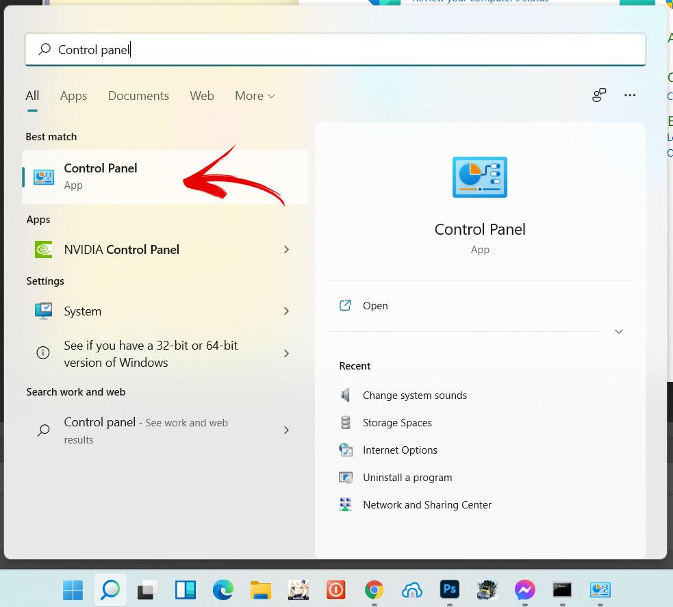 control panel Cách Shutdown máy tính siêu nhanh